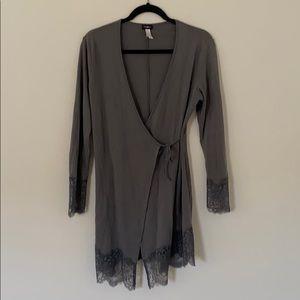 Cosabella Grey Tie Robe